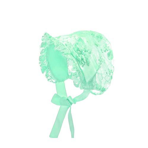 Fenical Baby Mädchen Haube Spitze Hut Kappen Taufe Motorhaube Säugling Prinzessin Sonnenhut Blume Motorhaube Foto Requisiten von 0-2 Jahren