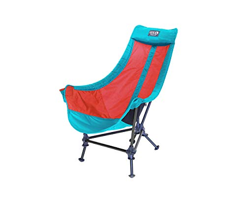 ENO - Eagles Nest Outfitters Lounger DL Camping Chair, Outdoor Lounge Chair, Aqua/Red