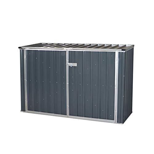 XLLLL Arcon Exterior Impermeable Almacenamiento De Bicicletas Plástico Wheelie Bin Shed Garden Cobertizo De Almacenamiento Al Aire Libre para La Venta Garden Storage Box Steel