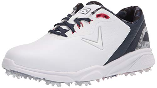 Callaway Men's Coronado v2 Golf Shoe, White/Blue/Red, 10.5 Wide