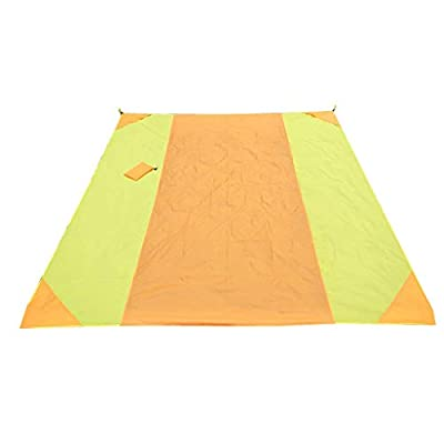 QUNANEN Large Printing Beach Blanket Sand Proof and Waterproof Combined - Sand Free Beach Mat Outdoor Picnic Blanket Rug Sandless Mattress Pad, Machine Washable, Polyester, 118'' x110 ''