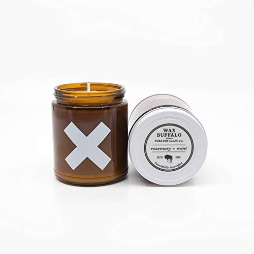 Wax Buffalo Handmade Pure Soy Scented Candle | Sandalwood, Teakwood, Amber Cedar, Patchouli, Black Pepper, Sweet Oak | Hand Poured | Long Lasting Scent | Clean Burn (9 oz, The Traveler)