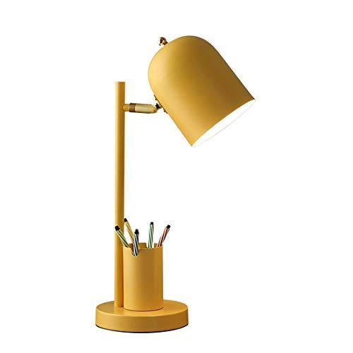 Plug-in E27 Lámpara de escritorio de la lámpara de protección de ojos especiales Lámpara de noche con titular de la pluma desmontable Adecuado para la oficina de estudio de la habitación del estudio