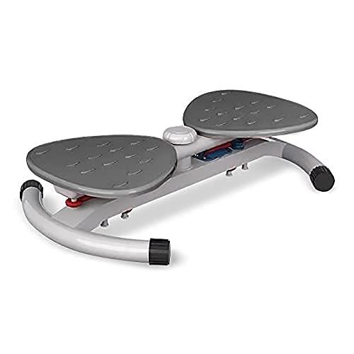 GLOBAL RELAX Zen Shaper® Zigzag Plataforma Fitness Giratoria -Gris (Modelo 2021) -Acondicionamiento Corporal estético - Mejore su Postura, el Equilibrio y la Resistencia Corporal –Reflexología de pie