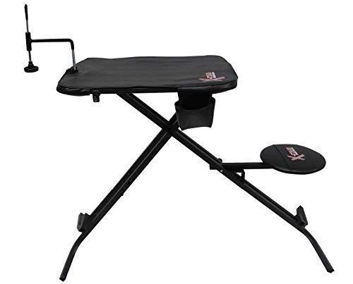 X-Stand Treestands The X-Ecutor Folding Shooting Bench Black