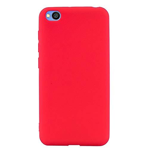 ZDCASE Redmi Go Funda, A Prueba de choques TPU Suave Ultra Delgado Ligero Flexible Caucho Protectora Funda para Xiaomi Redmi Go - Rojo