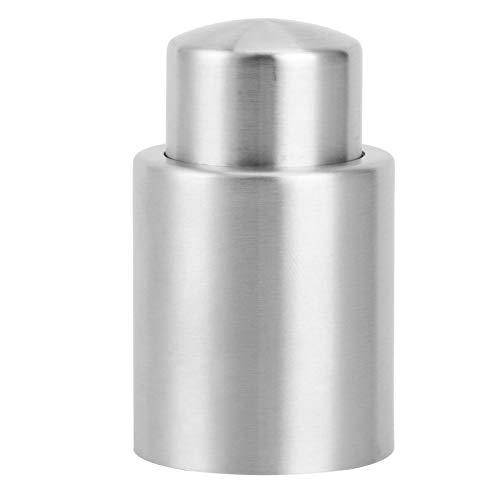 Tapón de tapón de botella de vino de acero inoxidable Accesorio sellador de tapa de champán de vino tinto al vacío(L)