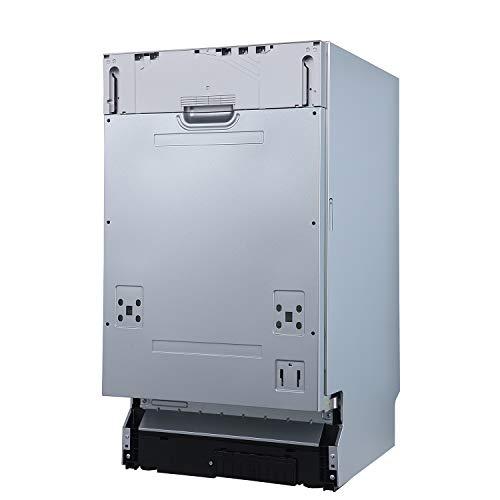 KKT KOLBE Vollintegrierbarer Geschirrspüler/Spülmaschine / 60cm / Edelstahl/AquaStop/Höhenverstellbar Oberkorb / 4 Spülprogramme / 9 Maßgedecke/Zeitvorwahl / DW452VI