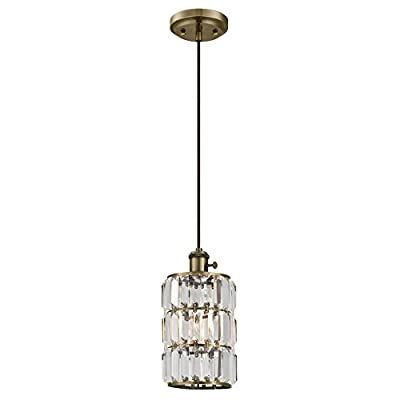 Westinghouse 6337500 Sophie One-Light Indoor Wall Fixture, Oil Rubbed Bronze Finish with Crystal Prism Glass