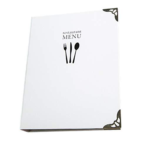 A5 手作り メニュー ブック ミニ バインダー ファイル 料理 選択 レシピ シンプル (ホワイト+ブラック)