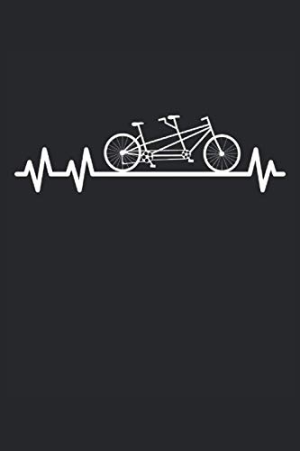 Tandem bike: Heartbeat pulse cyclist partnerlook gifts notebook lined (A5 format, 15. 24 x 22. 86 cm, 120 pages)