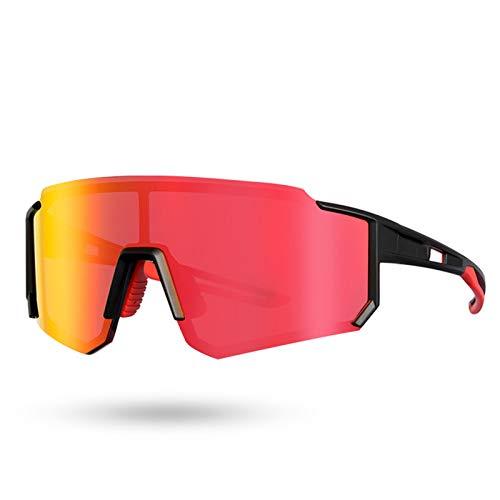 GUTYRE Gafas De Ciclismo, Gafas De Sol para Deportes Al Aire Libre, Revestimiento De 8 Capas, Lentes Que Cambian De Color, Se Utilizan para Andar En Bicicleta O Esquiar,Rojo