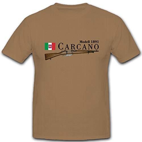 Carcano Modell 1891 italienisches Gewehr Karabiner Italien - T Shirt #10536, Größe:XXL, Farbe:Sand