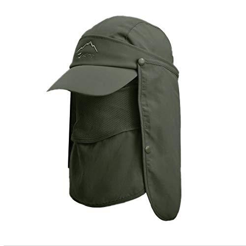 Lazz1on Hombre Sombreros de Pesca Gorra para el Sol Anti-UV con Proteccion...