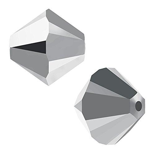 Swarovski Cristallo, 5328bicono Perline 4mm, 24Pezzi, Crystal Light Chrome 2x