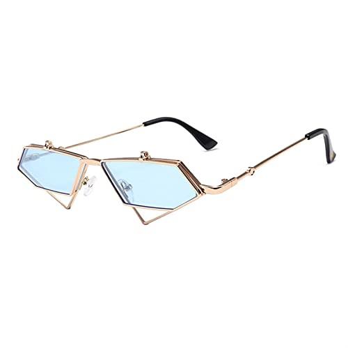 SLAKF Gafas de Sol Gafas de Sol de polióponos Irregulares para Hombres y Mujeres Gafas de Sol (Lenses Color : 5)