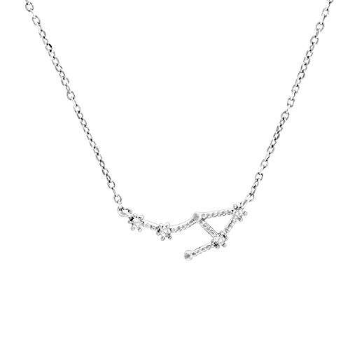 PAVOI 14K White Gold Plated Astrology Constellation Horoscope Zodiac...