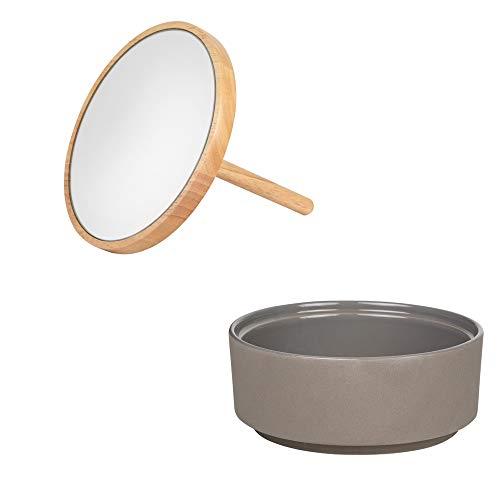 Räder Spiegeldose klein grau höhe 21 cm Durchmesser 16 cm