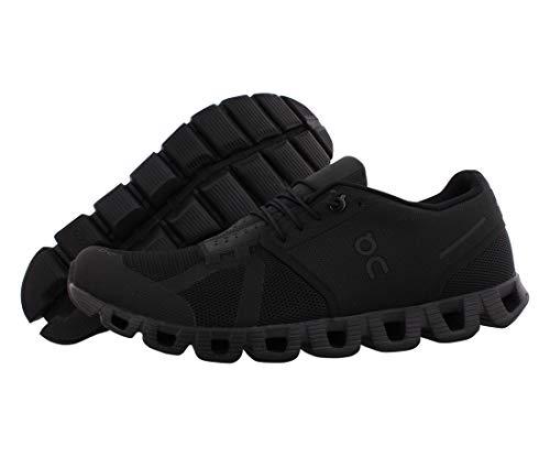 On - Zapatillas Cloud con malla para hombre, Negro (Completamente negro), 42 EU