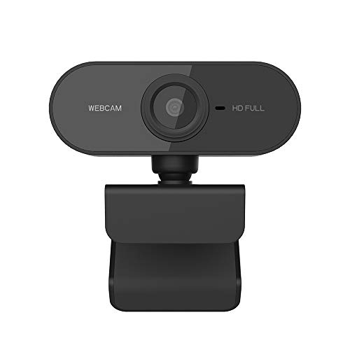Cofemy HD Webcam 1080p Pixel Auto Focus Webcam Webcam, Cámara de ordenador ajustable Negro USB con micrófono