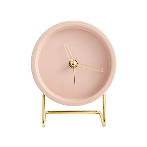 Yousiju Nordic Art - Reloj despertador de cuarzo silencioso con puntero silencioso para sala de estar, dormitorio, decoración para el hogar (color: B)