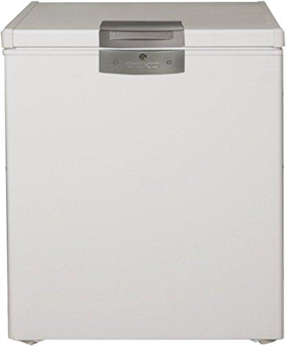 Beko HS221520 Arcón congelador horzontal, 110 W, 208 litros, Acero, Blanco