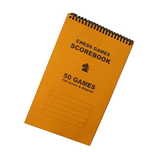 LTCTL ajedrez Cuaderno De Puntaje De Ajedrez: 50 Juegos 100 Movimientos,Sábanas De Puntaje De Ajedrez, Puntuación De Ajedrez Juego de ajedrez (Color : Orange)