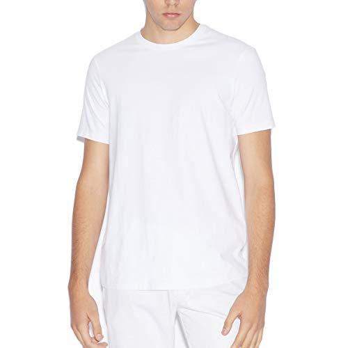 Armani Exchange Pima Round Neck Camiseta, Blanco (White 1100), X-Small para Hombre