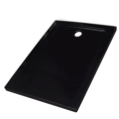 vidaXL Base de chuveiro retangular ABS 80 x 110 cm preto