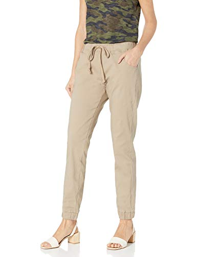 Red Fox Women's Twill Jogger Pants 482 (Beige, Small)