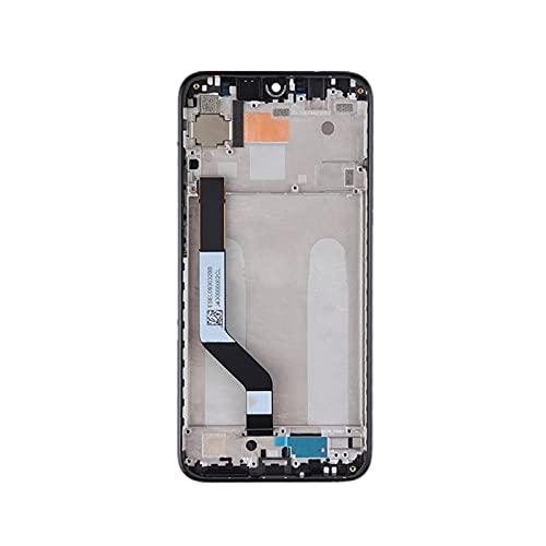 Auleset Pantalla LCD Pantalla Táctil Digitalizador Asamblea Piezas para Xiaomi Redmi Note 7/7 Pro - Negro con Marco