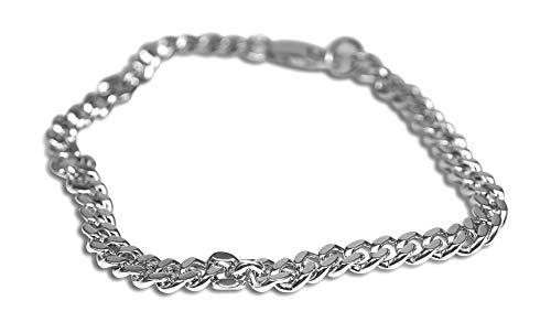 Sprezzi Fashion Modisches Herren Ketten Armband aus massivem 925 Sterling Silber mit Karabiner Verschluss verstellbar minimalistischer Männer Schmuck aus Deutschland