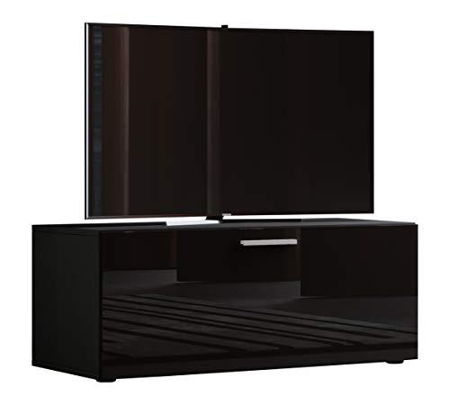 VCM TV Lowboard Fernsehtisch Rack Phono Möbel Tisch Holz Sideboard Medienrack Fernsehbank Schwarz 40x95 x 36 cm