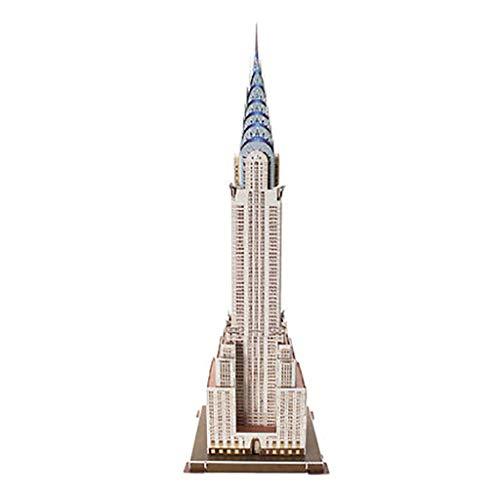JYTTCE Puzzle 3D Puzzle Creativo De Los Niños EE.UU. Chrysler Building DIY Modelo De La Asamblea