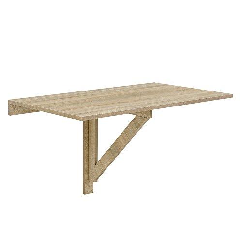 [en.casa] Wandklapptisch 100x60x58cm in Eichen-Optik Klappbarer Schreibtisch Wandtisch Tisch Platzsparend
