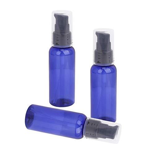 Newin Star 3 PCS 50ML Portable Lotion Crème Rechargeables traitement Flacon pompe avec Cap - bleu et noir