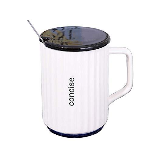 Beker Engels Stripe Office Keramische Beker met Deksel met Lepel Koffie Beker Mannen en Vrouwen Paar Beker