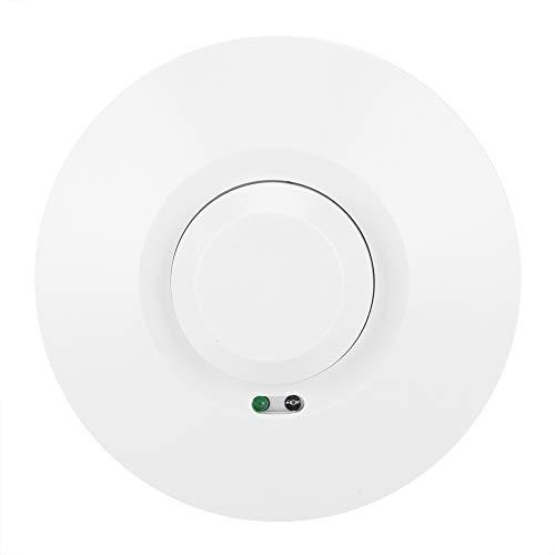 Qqmora Sensor de ocupación de Techo, Interruptor de Sensor de microondas de ángulo de inducción Grande Fiabilidad Fuerte Voltaje bajo de 360 ° para lavandería para sótanos para armarios para