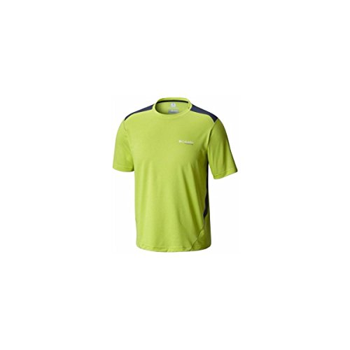 Columbia Titan Ice Mens T Shirt Men Mens T Shirt AM1582 Yellow Voltage HeatherZinc XXL