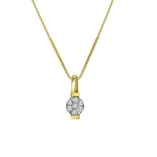 Diamond Luxury - 585 Gelbgold-Kette Entourage mit Diamant - für Damen - Gelb