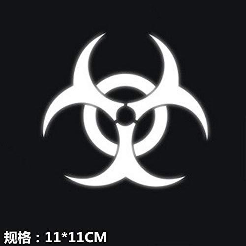 XYZHAIMA Autoraamstickers Gepersonaliseerde autostickers Biohazard Bescherming Paraplu Persoonlijkheid Auto Stickers Gevaarlijke Paraplu Stickers Zelfklevend