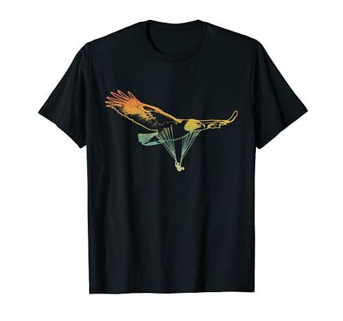 Paragleiter Gleitschirm als Adler Paragliding T-Shirt