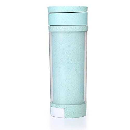 YIXINYOUPIN Taza de agua, botella de agua con pajita, botella de agua ecológica, botella deportiva de plástico no tóxico Tritan sin Bpa, adecuada para fitness, gimnasio, senderismo verde
