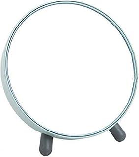 HD Mirror Round Makeup Mirror Portable Desktop Vanity Mirror Durable Easy to Clean Without Deformation Bathroom Mirror 16.6CM (Color : Pink, Size : 16.6cm) (Color : 16.6cm Blue)