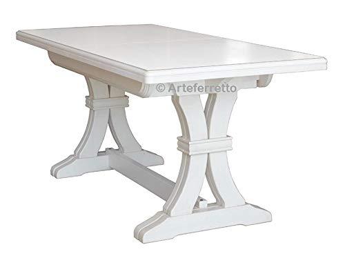 Arteferretto Table Extensible en Bois Massif 180-360 cm
