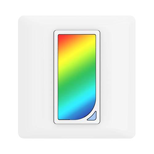 MoKo WiFi Interruptor Inteligente, WiFi Interruptor con RGB Luz de Noche Regulador, Control Remoto/Voz, Funciona con Alexa,SmartThings,Google Home,Atajos de Siri, Temporizador, SOLO 2.4GHz Red