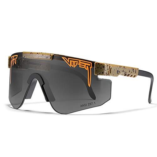 HUALUWANG Deportes Polarizados Pit Viper para Hombre Gafas de Sol Gafas a Prueba de Viento al Aire Libre para Hombres y Mujeres Gafas de Ciclismo para Pesca de Golf a Prueba de Rayos UV