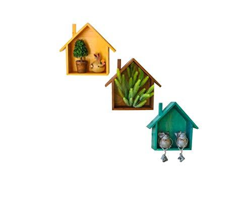 Warme kleine huisplank wandbehang massief hout vintage oude opslag wandbehang wanddecoratie plaid wanddecoratie 26 * 8 * 24 cm meer decoratie (kleur: b) A