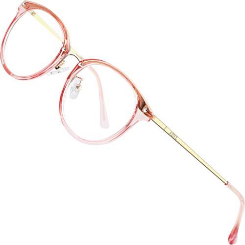 ATTCL Unisex blaulichtfilter brille computerbrille zum Blockieren von UV-Kopfschmerz [Augenbelastung Reduzieren] Gaming Brillen(Herren/Damen) 19702 Rosa