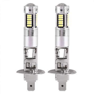 MeterMall Auto For 1 Pair 12V H1 4014 30SMD LED White Car Fog Light Lamp 6500K Bulbs